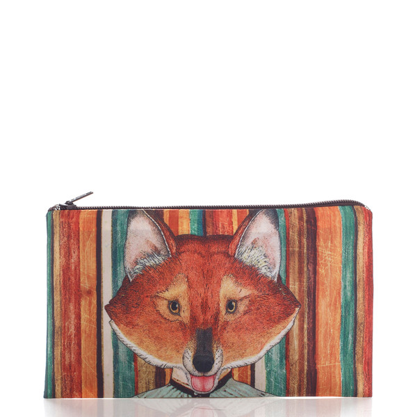 bag fox brown orange ziziztime cosmetic bag cosmetic case vintage