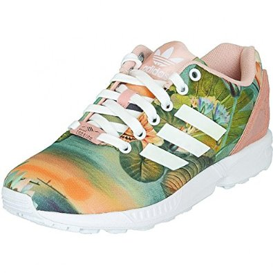 adidas zx flux flower women sneaker trainers size 38 2 3. Black Bedroom Furniture Sets. Home Design Ideas