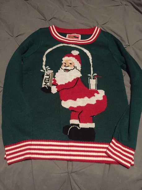 Sweater: christmas sweater, santa, ugly sweater, christmas, red ...