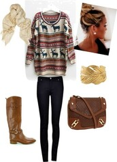 sweater,boots,brown,cute,fall sweater,jeans,jewels,bag,shoes,outfit,fall outfits,shirt,moose,scarf,pants,deer,gold,oversized sweater,oversized white sweater,reindeer sweater,snowflake,winter outfits,hair bun,indie,alternative,cardigan,christmas sweater,tumblr,tumblr clothes,tumblr outfit,fashion,cute sweaters,pattern,belt,christmas,blouse,jumper,purse,hair,top,jumpsuit,cool,girly