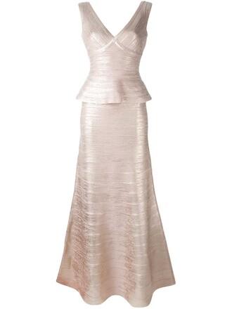 gown metallic dress