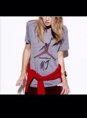 shirt,mj,michael jackson,michael jordan,top,thriller,grey t-shirt