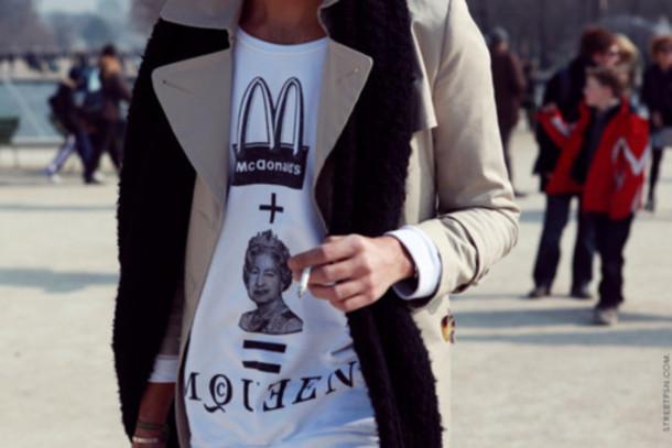 t-shirt alexander mcqueen mcdonalds queen