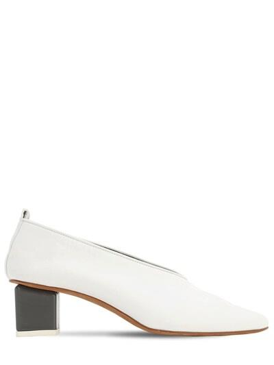 GRAY MATTERS 40mm Mildred Leather Pumps White