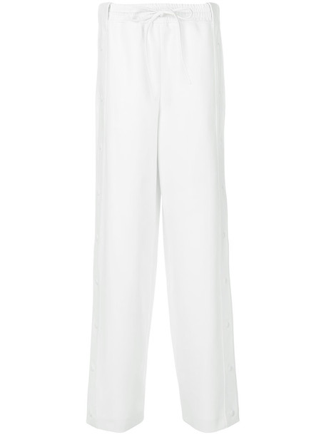 pants track pants women spandex white