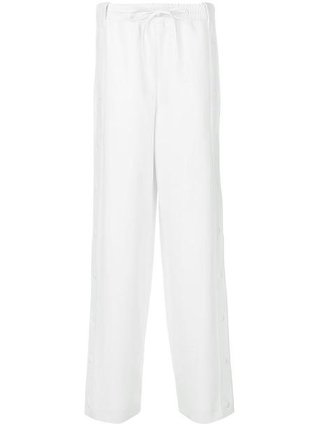 Valentino pants track pants women spandex white