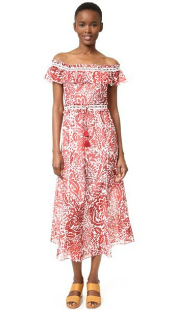2b852da76e6 Saylor Amalfi Floral Maxi Dress - Red Cream - Wheretoget