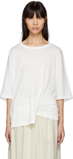 Ys t-shirt shirt t-shirt white off-white top