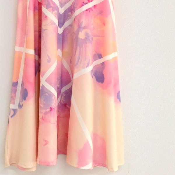 dress pastel digital print