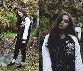 jacket,zaful,trendy,chic,streetstyle,grunge,hippie,vintage,embroidered,bomber jacket,all black everything