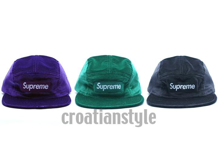 Supreme Box Logo Camp Cap Velvet Polka Dot Purple Black Hat ... 0bf3c639dfc