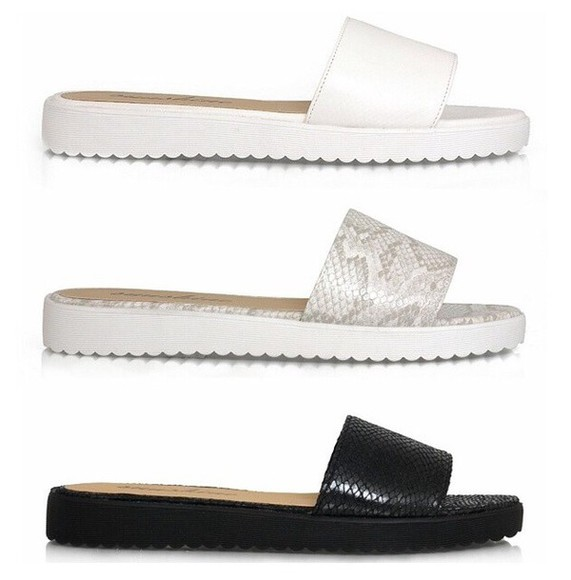 snake snake print pool sliders sandals truffle collection print