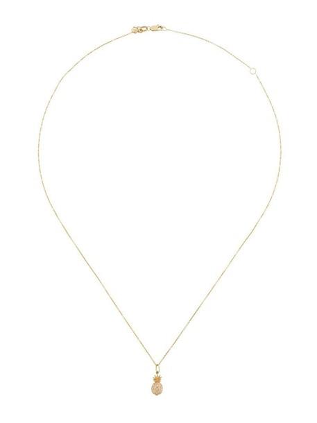 sydney evan women pineapple necklace gold grey metallic jewels