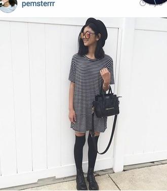 dress t-shirt dress rayures robe stripes striped dress