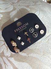 Topshop Earrings Skulls Cross Peace | eBay