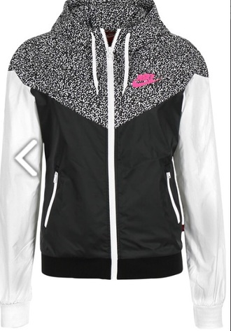 jacket windrunner details nike jacket nikewindrunner nike air fashion trendy dope leopard print pink black white