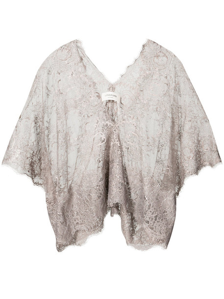 Loyd/Ford blouse women lace nude top