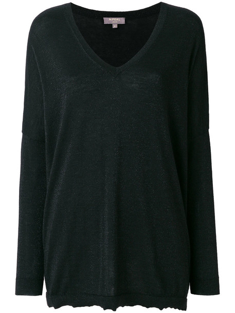 N.Peal jumper glitter women black sweater