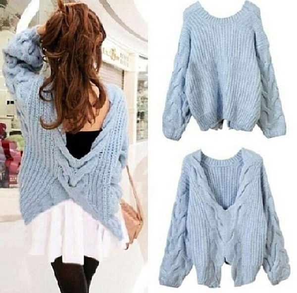 sweater blue blue skirt light blue warm