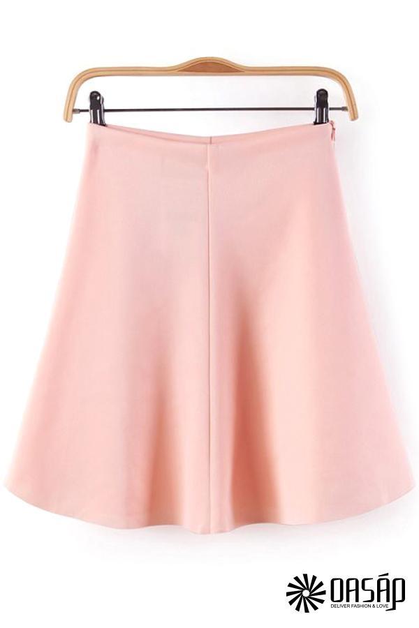 Essential Textured Skater skirt - OASAP.com