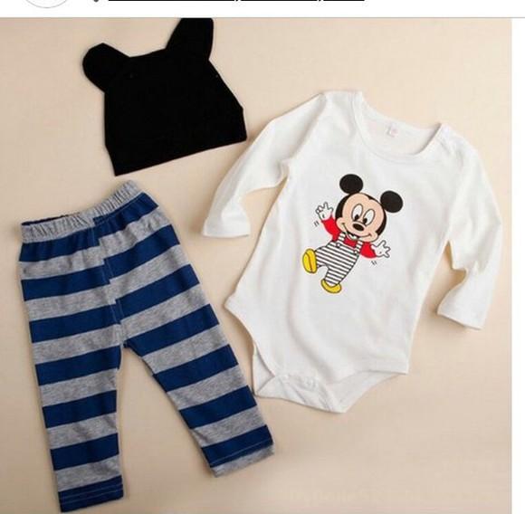 mickey mouse pajamas baby clothing
