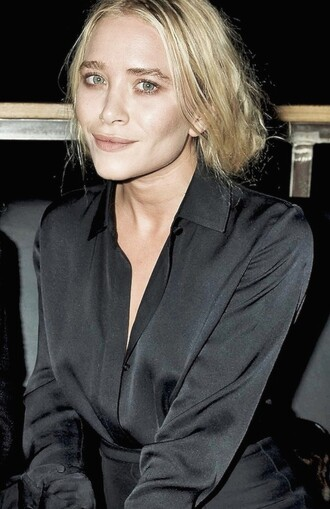 blouse black mary kate olsen