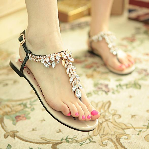 $ 69.99 Popular Black Summer Cowhide Upper Flat Heels Fashion Sandals for Girls