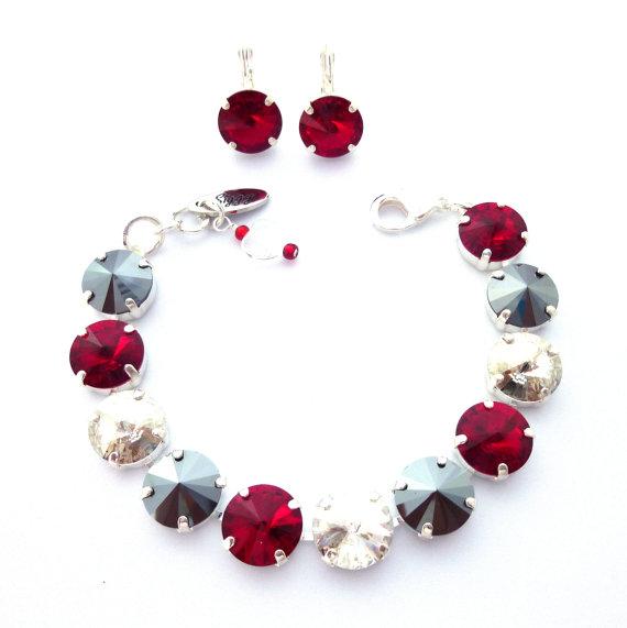 glitz n glam swarovski crystal tennis bracelet 12mm