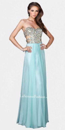 La Femme 18602 Seafoam Blue Prom Dress | eBay