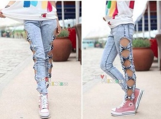 jeans bow jeans light wash