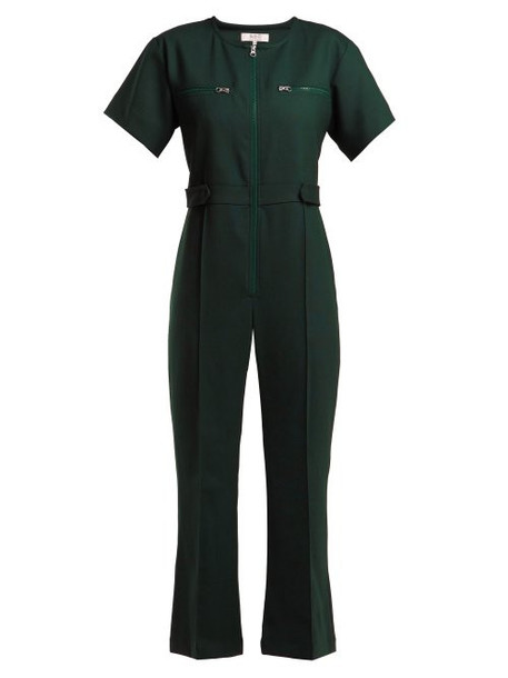 Sea - Tradition Technical Fabric Jumpsuit - Womens - Dark Green