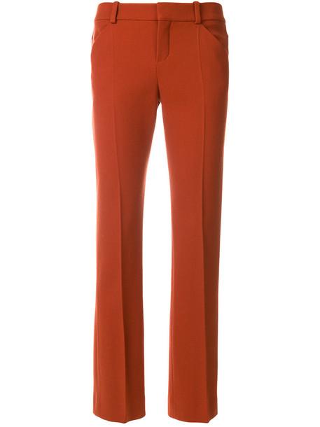 women spandex silk wool brown pants