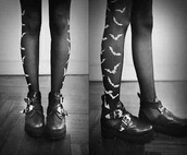 tights,black and white,halloween,cut out ankle boots