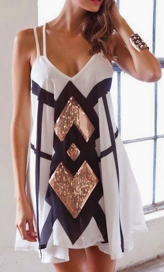 colorblock sequins rose gold sparkles white dress sparkly dress little black dress