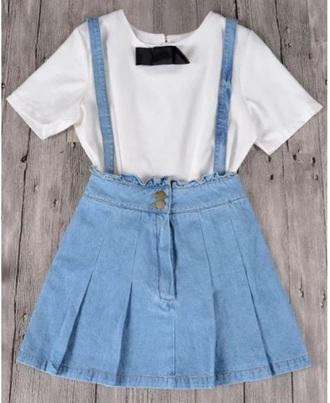 skirt girly denim denim skirt overall dress