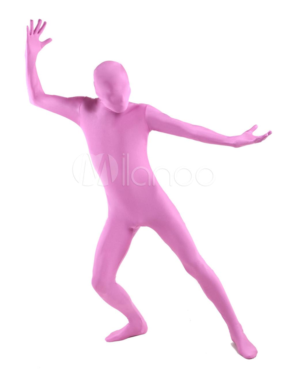 Costume de zentai populaire combinaison enveloppé unisexe en lycra spandex rose - Milanoo.com