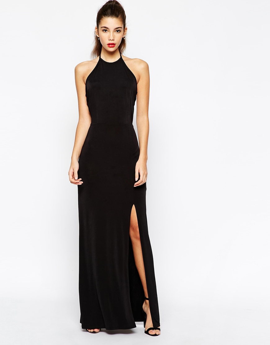 566aa471efdb88 Love Halterneck Bodycon Maxi Dress With Open Back at asos.com