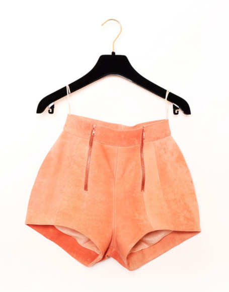 shorts pink high waisted short peach