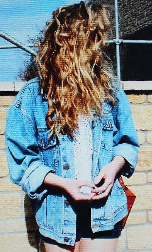 jacket denim vintage grunge 90s style coat
