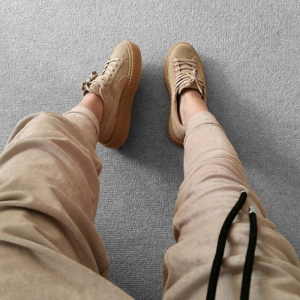 puma suede all beige