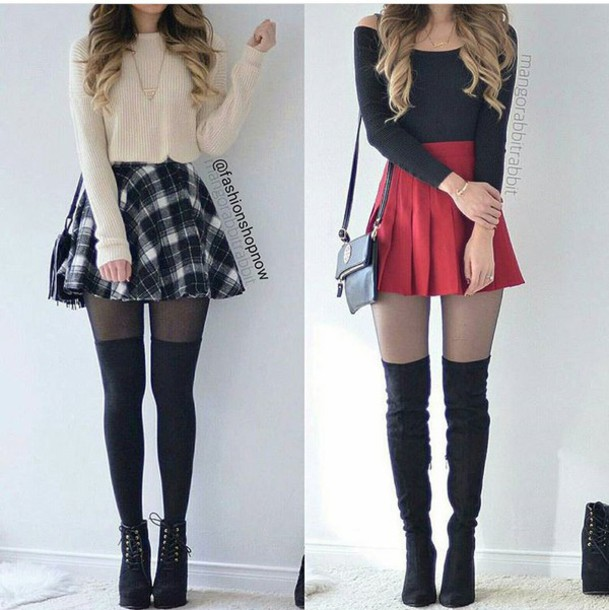 skirt, skater skirt, mini skirt, high waisted skirt, plaid ...