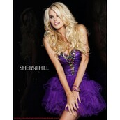 dress,sherri hill,purple,stockings