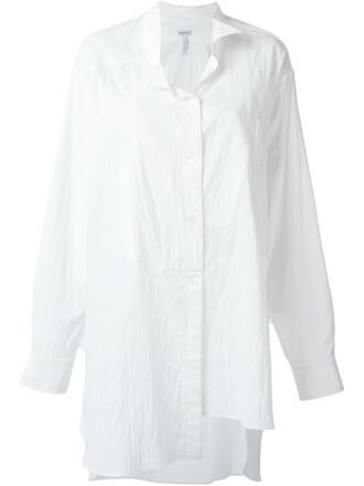 shirt asymmetric shirt long white top