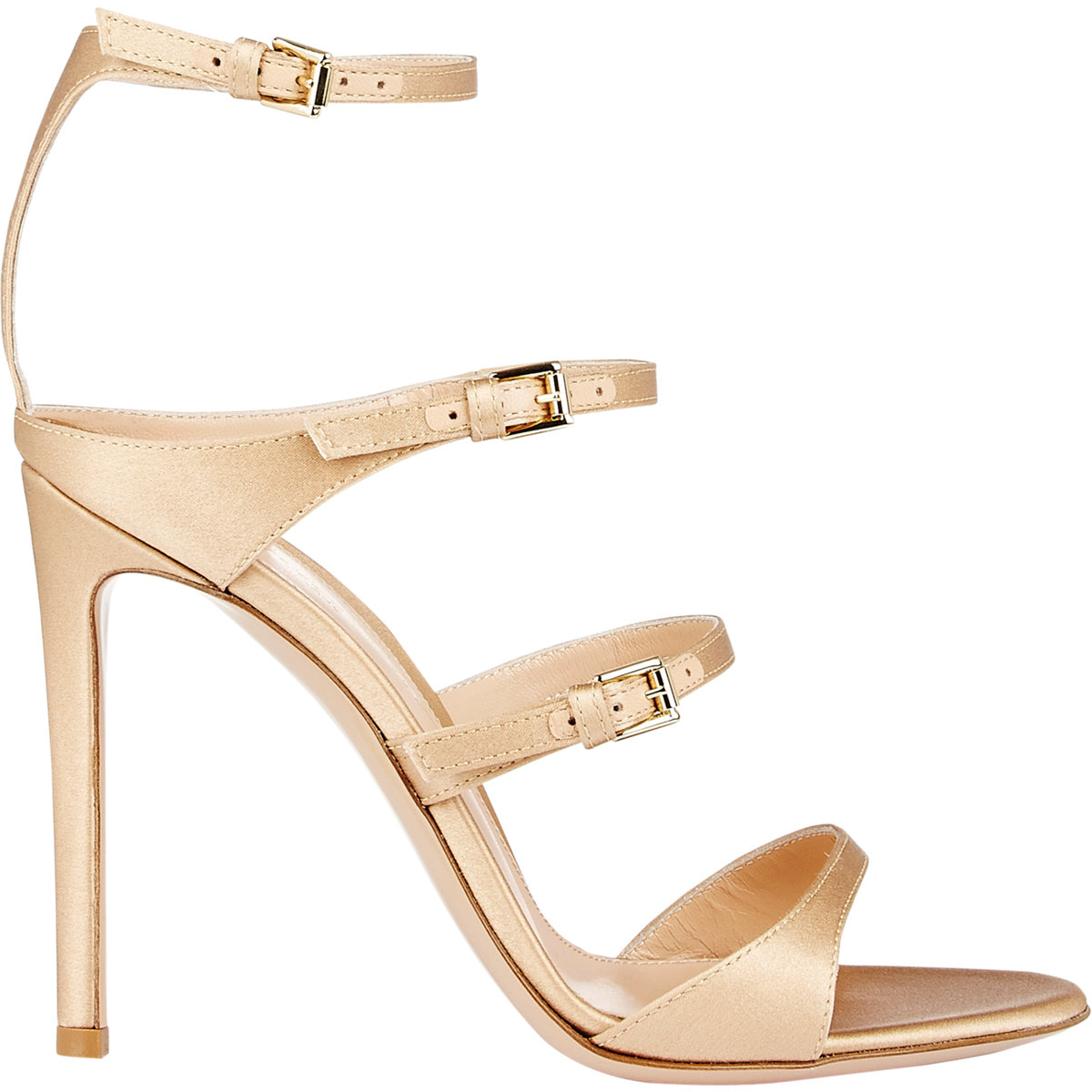 Gianvito Rossi Triple-Strap Sandals at Barneys.com