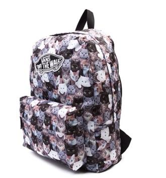 vans bag hipster grunge backpack cats cat bag