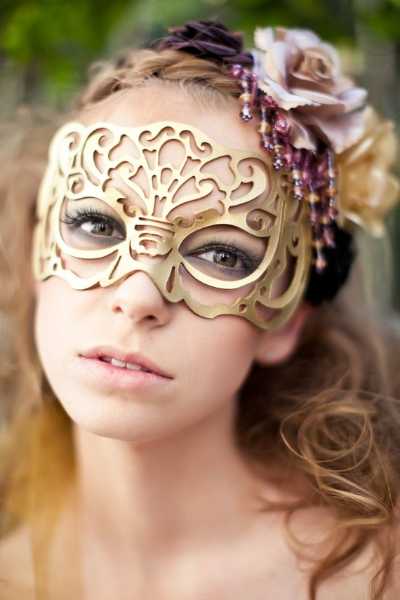 Masquerade mask in gold leather victoriana by tombanwell on etsy