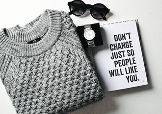 sweater new years resolution cable knit grey sweater winter swag notebook