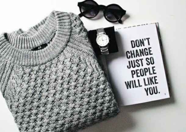 sweater new years resolution cable knit grey sweater winter swag notebook college