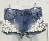 shorts,lace,mini shorts,pretty,kawaii