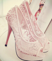 socks,shoes,lace,blush,blush pink,pinnk,piink,pink,heels,pumps,wedding,open toes